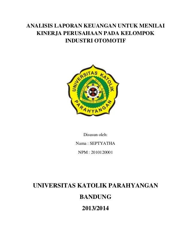 Paper Seminar Manajemen Keuangan Analisis Rasio Industri Otomotif