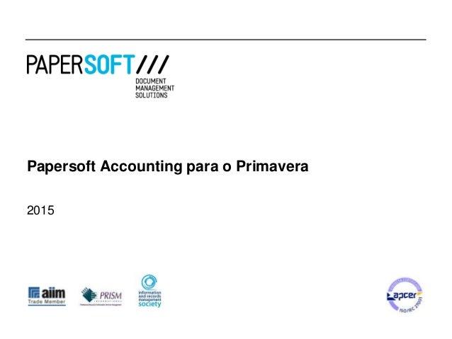 Papersoft Accounting para o Primavera 2015