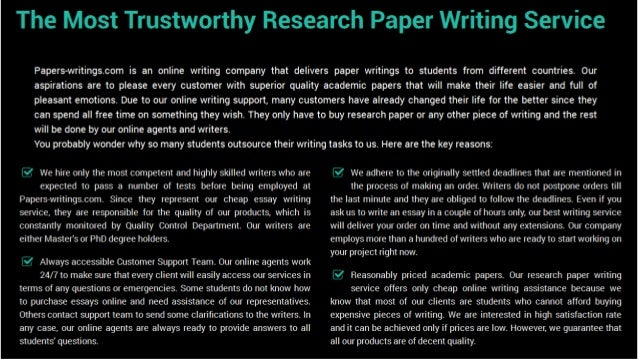 Assistance with writing papers