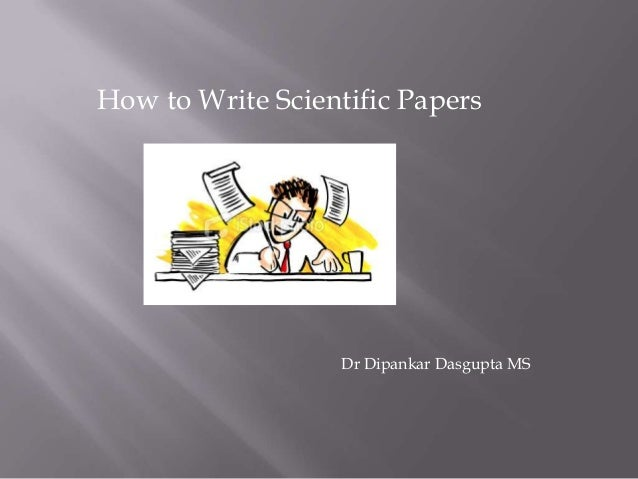 write a scientific paper