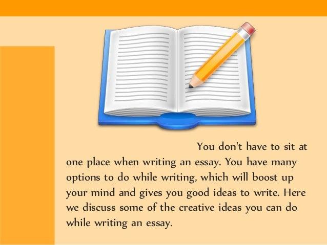 Writing essays online