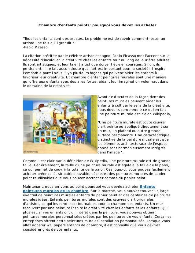 Papiers Peints Pour Enfants Chambre Mural Unique