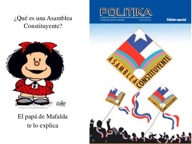 ¿Qué es una AsambleaConstituyente?El papá de Mafaldate lo explica