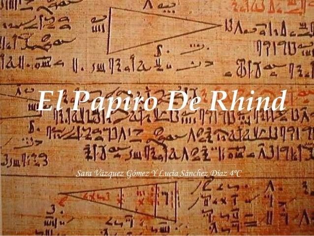 Resultado de imagen de En el Papiro de Rhind