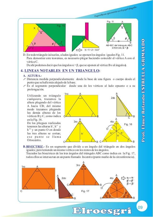 Papiroflexia y geometría