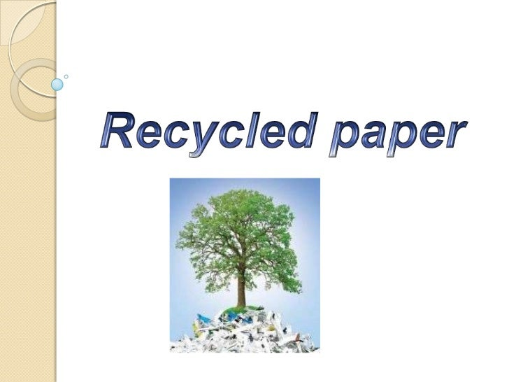 Recycled paper<br />