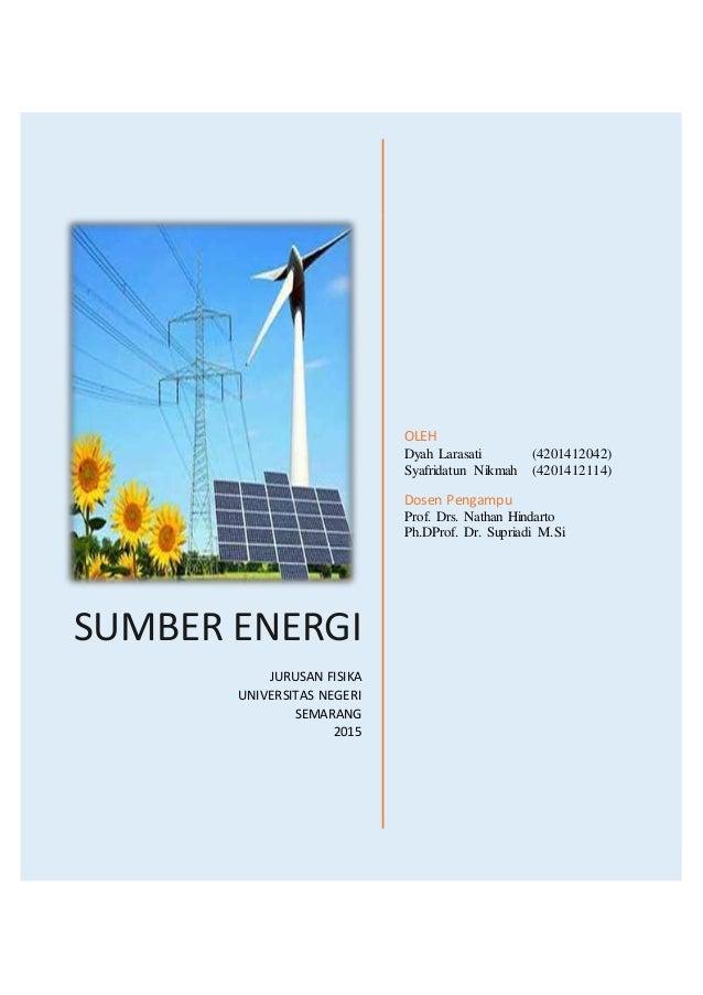 Materi Sumber Energi Fisika Sma