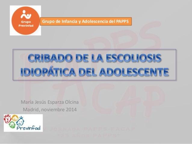 Grupo de Infancia y Adolescencia del PAPPS  María Jesús Esparza Olcina  Madrid, noviembre 2014