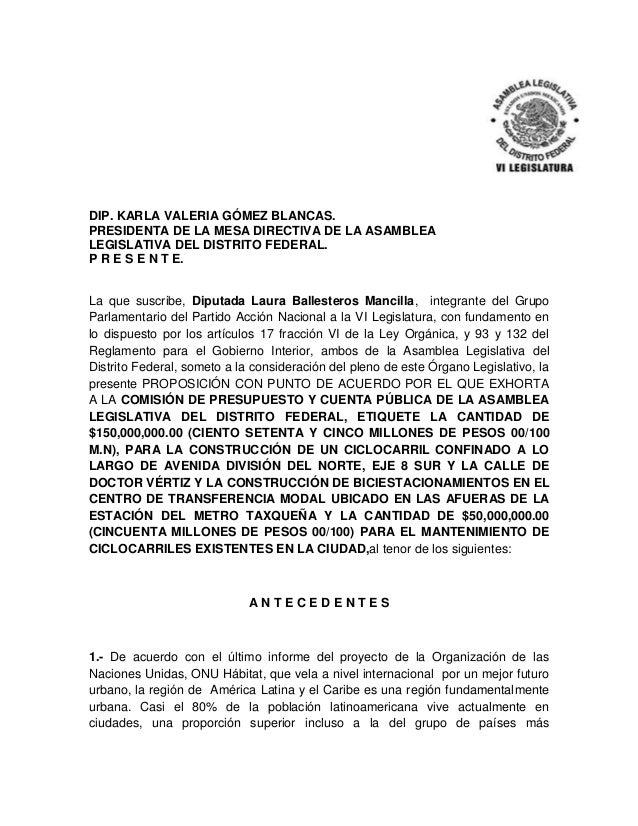 DIP. KARLA VALERIA GÓMEZ BLANCAS. PRESIDENTA DE LA MESA DIRECTIVA DE LA ASAMBLEA LEGISLATIVA DEL DISTRITO FEDERAL. P R E S...
