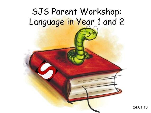 SJS Parent Workshop:Language in Year 1 and 2                           24.01.13