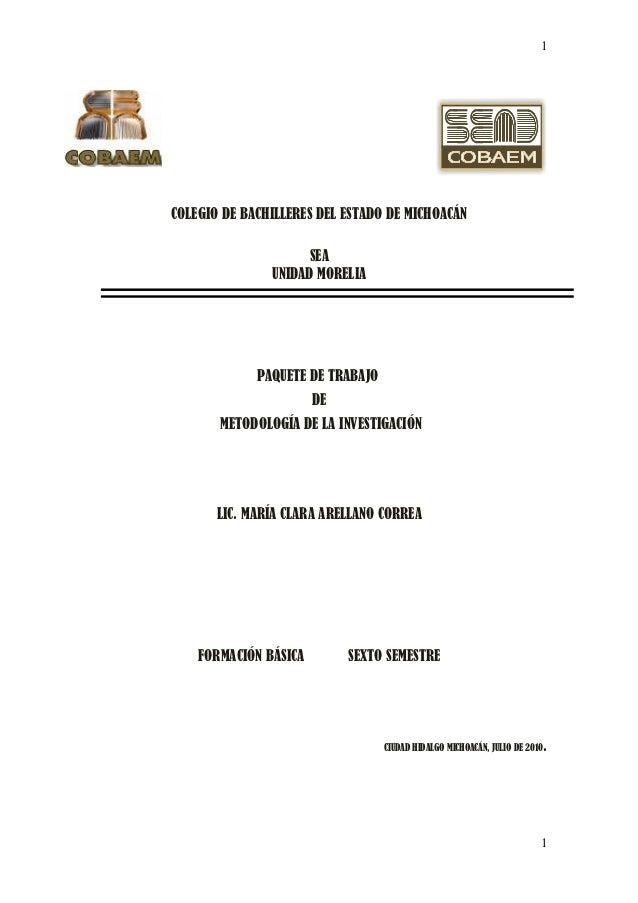 1COLEGIO DE BACHILLERES DEL ESTADO DE MICHOACÁN                     SEA               UNIDAD MORELIA             PAQUETE D...