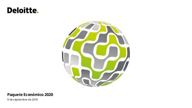 Paquete Económico 2020 9 de septiembre de 2019