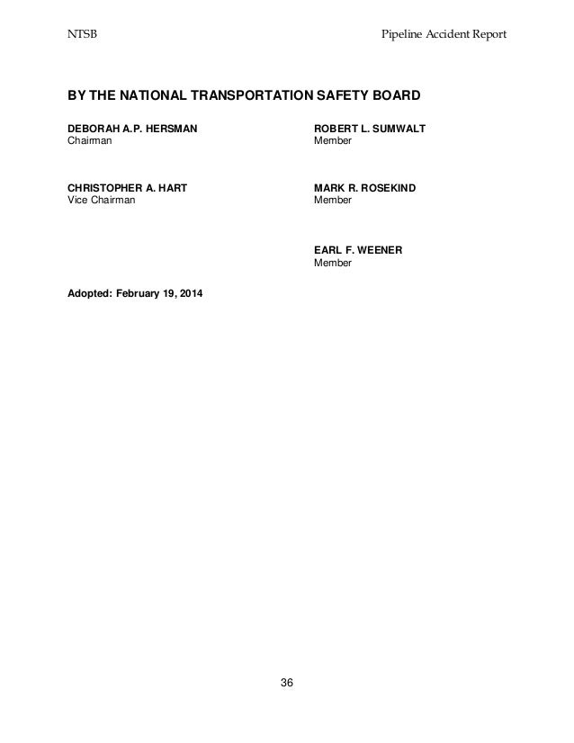 NTSB Final Report on Columbia Gas Transmission Pipeline ...