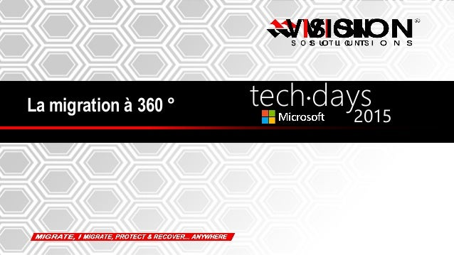 1 La migration à 360 ° tech days• 2015