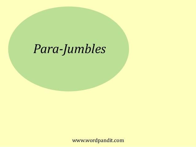 Para-Jumbles www.wordpandit.com