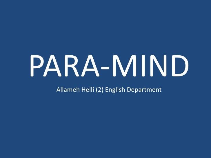 PARA-MINDAllamehHelli (2)English Department<br />
