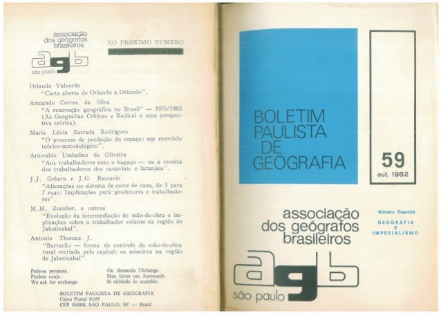 Para que a Geografia mude sem ficar a mesma coisa Milton Santos 1982