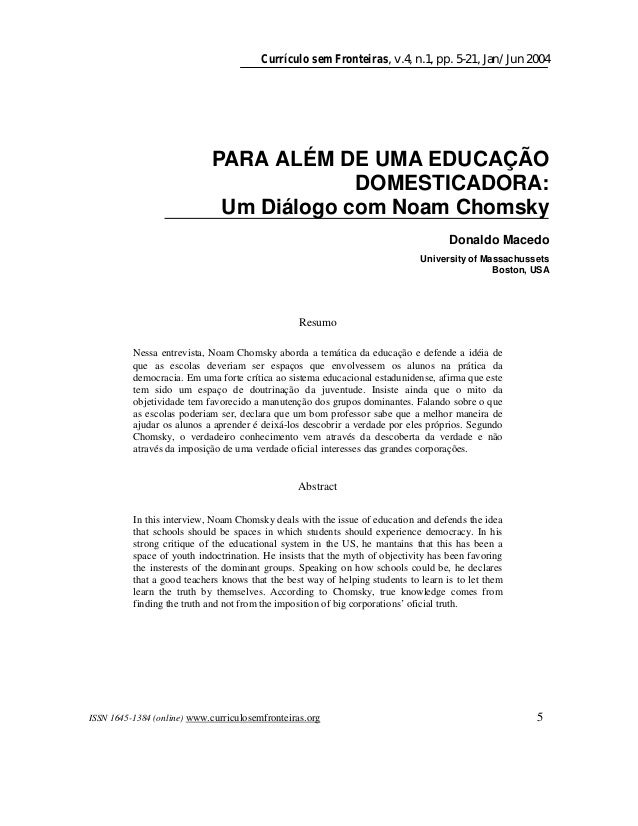 Currículo sem Fronteiras, v.4, n.1, pp. 5-21, Jan/Jun 2004 ISSN 1645-1384 (online) www.curriculosemfronteiras.org 5 PARA A...