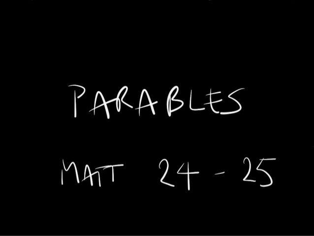 Parables - Part 5