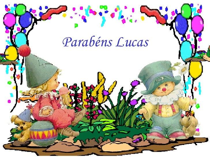 Parabéns Lucas