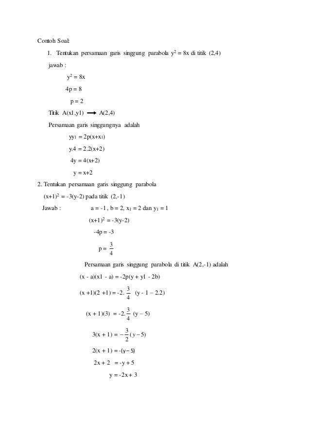 Makalah Matematika Parabola