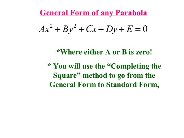 Parabola complete