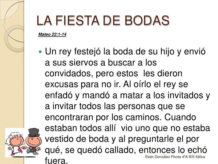 68d8452be LA FIESTA DE BODAS br   Mateo 22 1-14 br ...