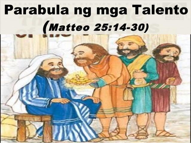 Parabula ng mga Talento (Matteo 25:14-30)