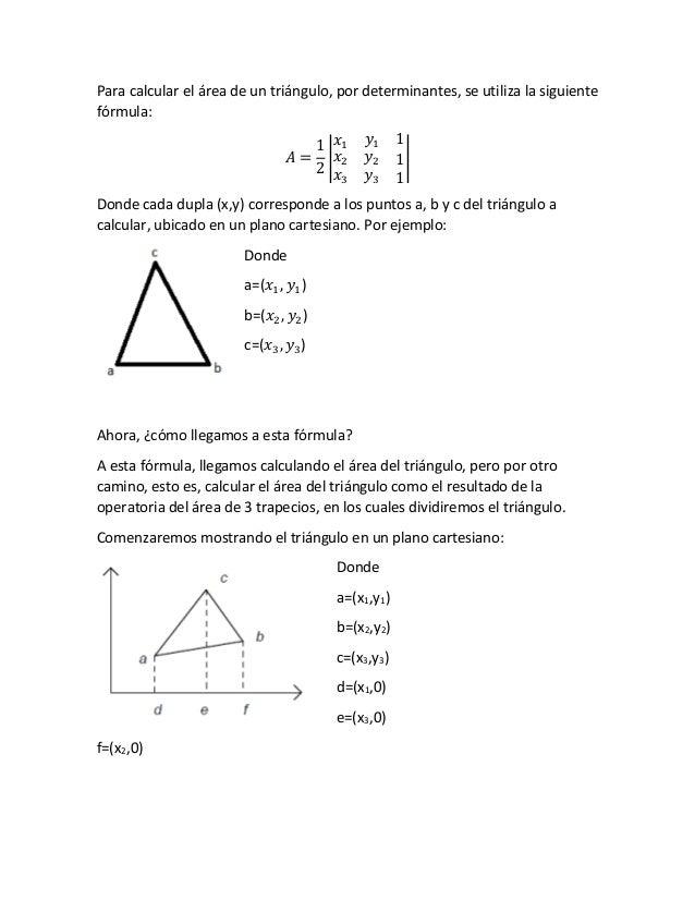 Para Calcular El área De Un Triángulo