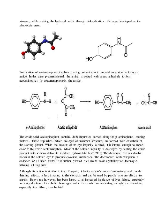 Function of water in synthesis acetaminophen research paper michael jordan