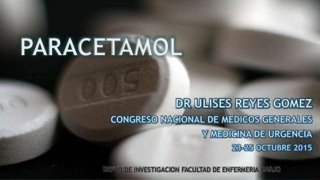 PARACETAMOL DEPTO DE INVESTIGACION FACULTAD DE ENFERMERIA UABJO