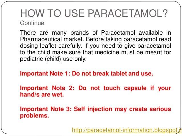 Paracetamol Information Ppt
