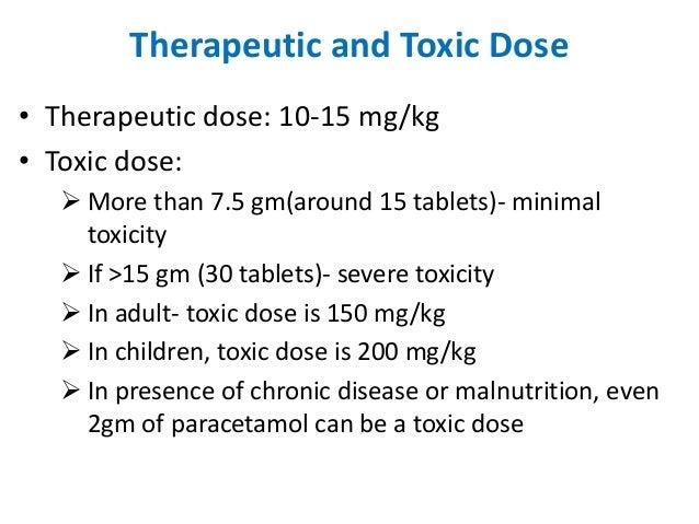 phentermine dosage forms of paracetamol overdose