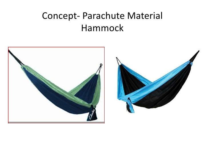 Concept- Parachute Material Hammock<br />