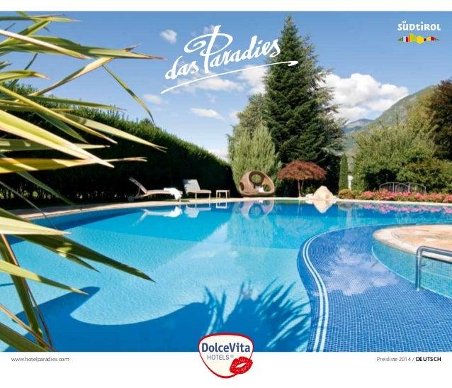 www.hotelparadies.com    Preisliste 2014 / Deutsch