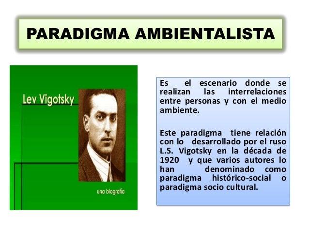 PARADIGMA AMBIENTALISTA            Es     el escenario donde se            realizan las interrelaciones            entre p...