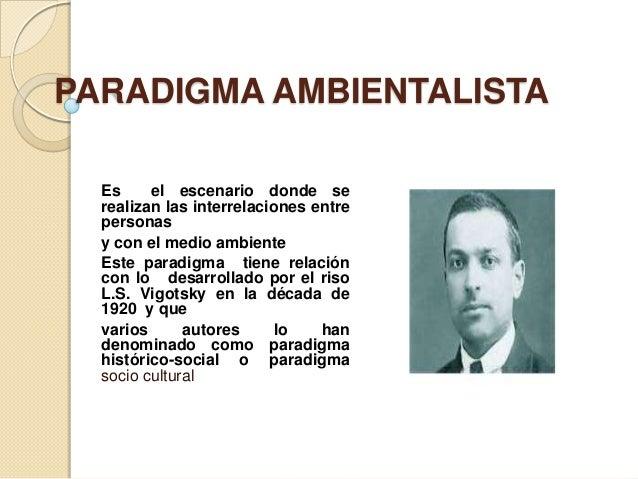 PARADIGMA AMBIENTALISTA  Es     el escenario donde se  realizan las interrelaciones entre  personas  y con el medio ambien...