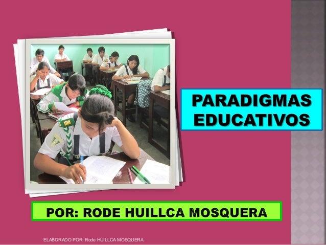 ELABORADO POR: Rode HUILLCA MOSQUERA