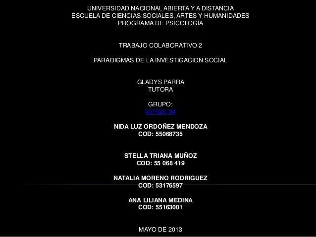 UNIVERSIDAD NACIONAL ABIERTA Y A DISTANCIAESCUELA DE CIENCIAS SOCIALES, ARTES Y HUMANIDADESPROGRAMA DE PSICOLOGÍATRABAJO C...