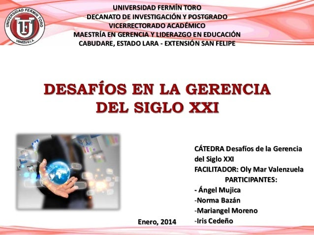 UNIVERSIDAD FERMÍN TORO DECANATO DE INVESTIGACIÓN Y POSTGRADO VICERRECTORADO ACADÉMICO MAESTRÍA EN GERENCIA Y LIDERAZGO EN...