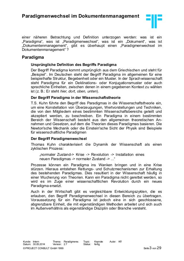 [DE] Paradigmenwechsel im Dokumentenmanagement   Dr. Ulrich Kampffmeyer   Hamburg, Juli 1999 Slide 3