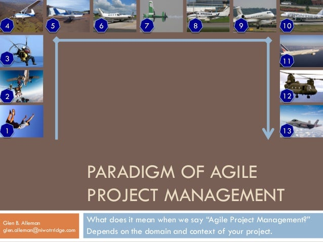"PARADIGM OF AGILE  PROJECT MANAGEMENT  What does it mean when we say ""Agile Project Management?""  Depends on the domain an..."