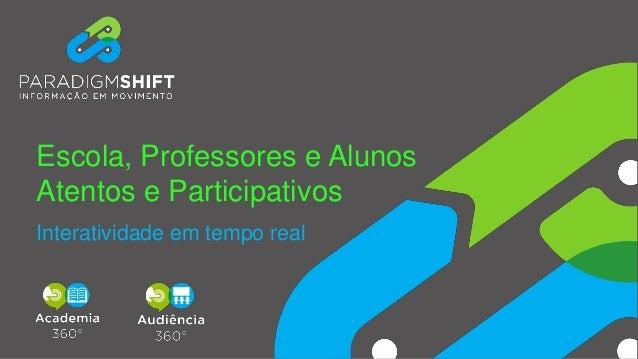 Escola, Professores e Alunos Atentos e Participativos Interatividade em tempo real