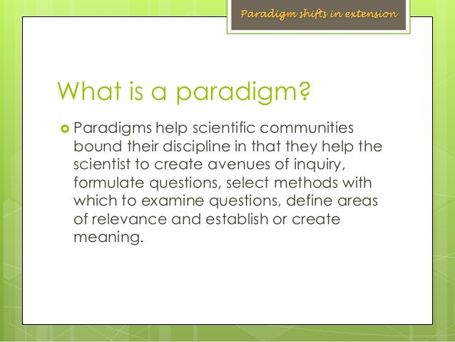 paradigm for thesis Although advocates of mixed-methods research have proposed pragmatism as a paradigm for against the quantitative-qualitative incompatibility thesis or dogmas.