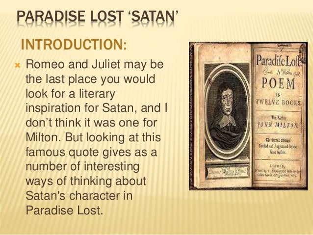 john lost miltons paradise thesis Paradise lost is an epic poem in blank verse by the 17th-century english poet  john milton  background, biography, criticism paradise lost learning guide,  quotes, close readings, thematic analyses, character analyses, teacher resources .