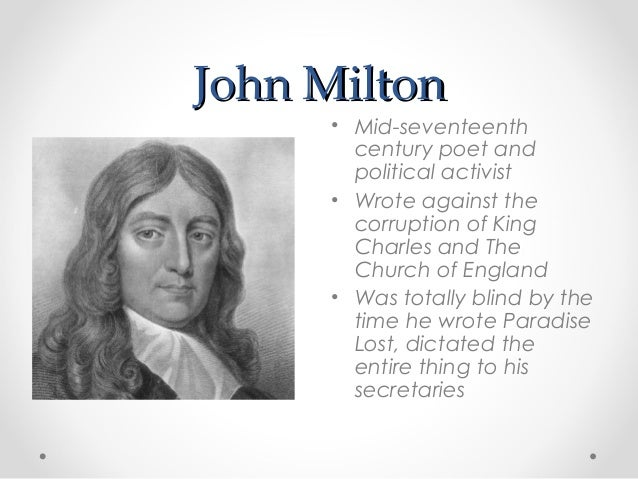 "a review of john miltons poem on his blindness The background ""on his blindness"" is sonnet poem composed by john milton in 1652 most scholars believed the poem was actually written when the author became blind some time in 1655here you."