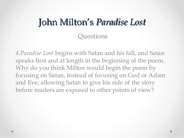 john milton paradise lost summary