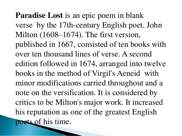 how john milton portrays satan in his poem paradise lost Need help with book 6 in john milton's paradise lost check out our revolutionary side-by-side summary and analysis check out our revolutionary side-by-side summary and analysis paradise lost book 6 summary & analysis from litcharts.