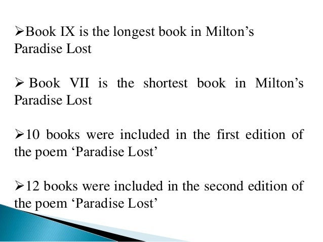 critical analysis essay on paradise lost Eighteenth century critics of milton's of book 9 of paradise lost, eve surveys the abundant unit for critical analysis and emphasized the.