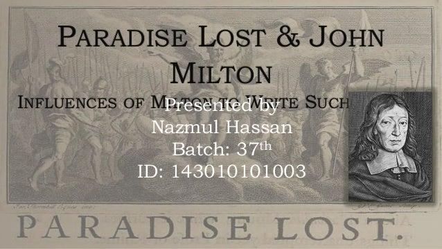 Paradise Lost & John Milton Slide 2